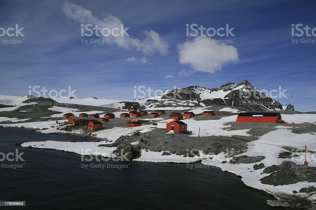Argentine research station stock photo