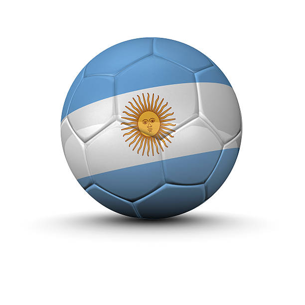 argentine soccer ball stock photo