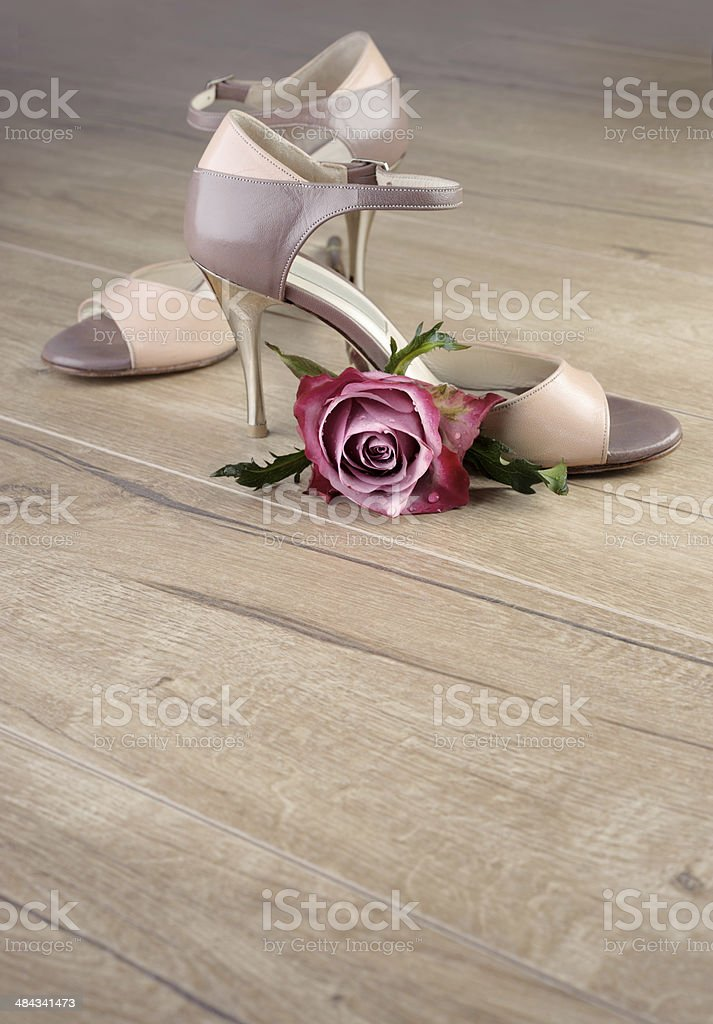 Argentine tango shoes, space stock photo
