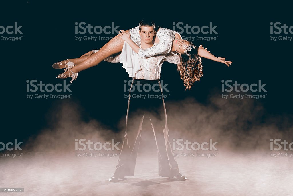 Argentinean Couple Dancing Tango stock photo