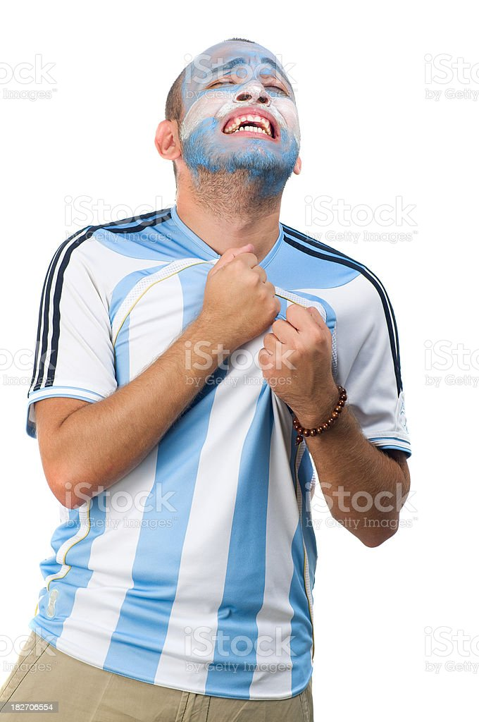 Argentinean Fan royalty-free stock photo
