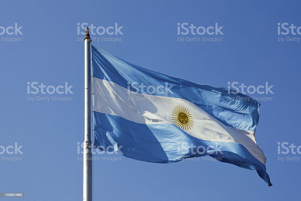 Argentinean flag stock photo