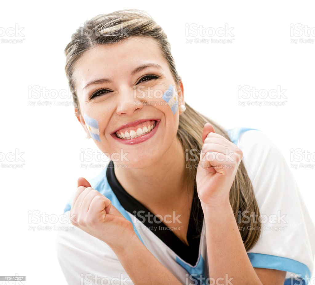 Argentinean football fan stock photo