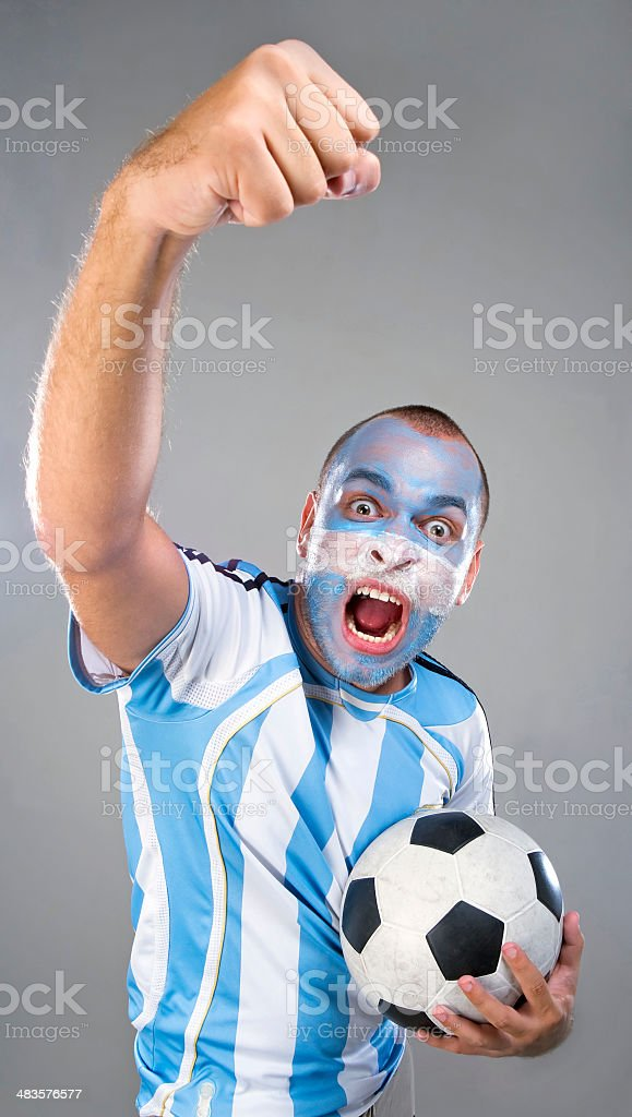 Argentinean Hooligan stock photo