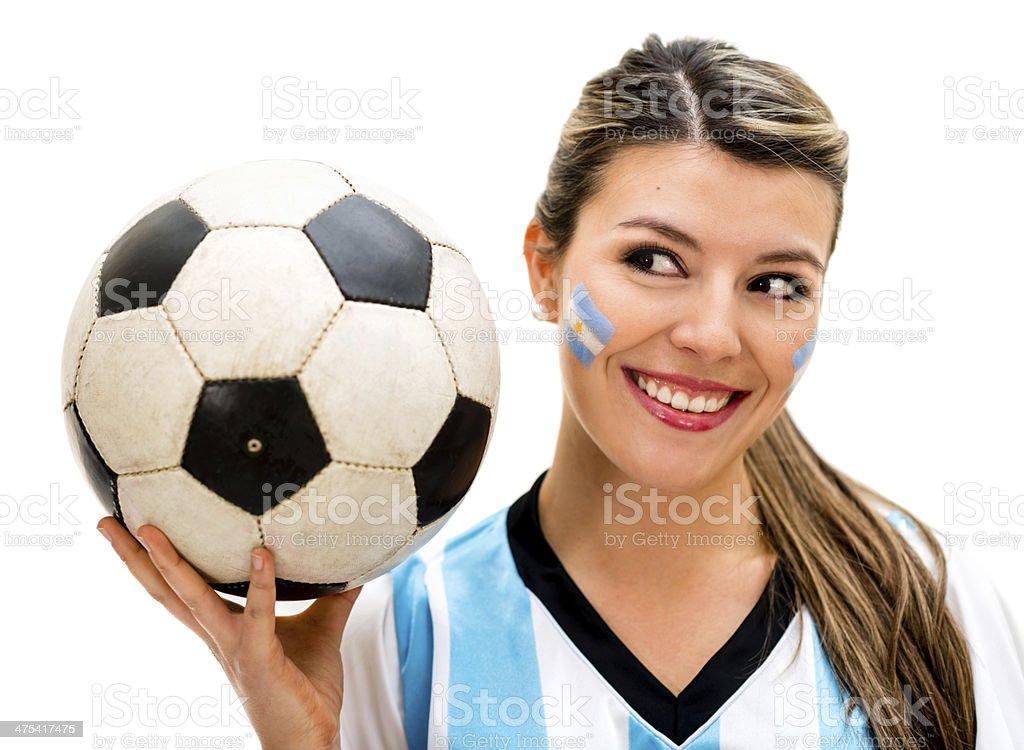 Argentinean soccer fan stock photo