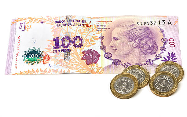 Argentinian banknote stock photo