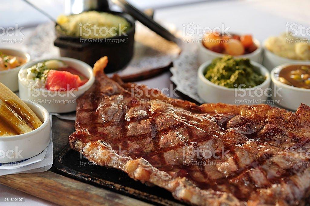 Bistecs de carne de res de Argentina - foto de stock