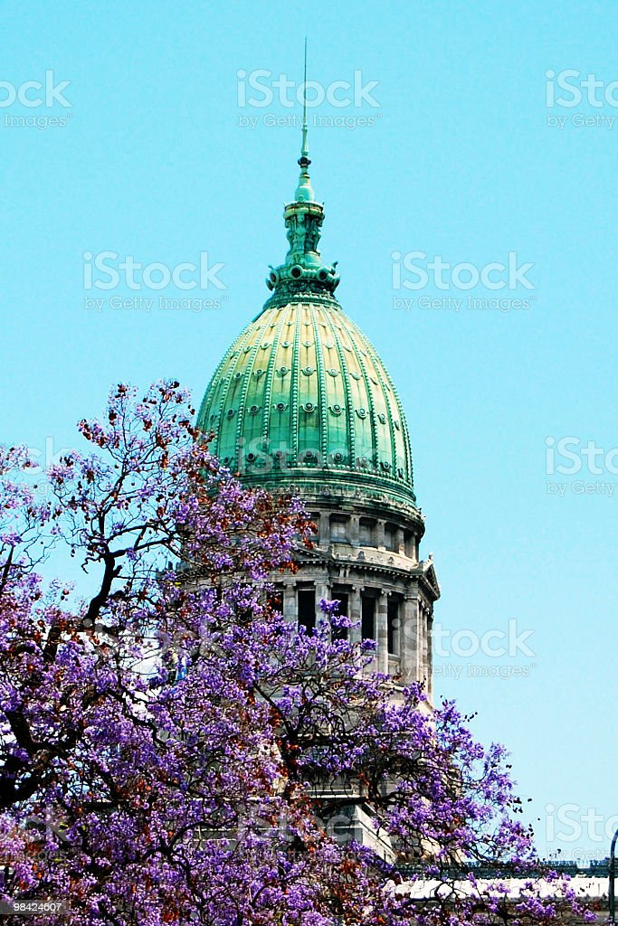 Argentinian Capitol Building royalty-free stock photo