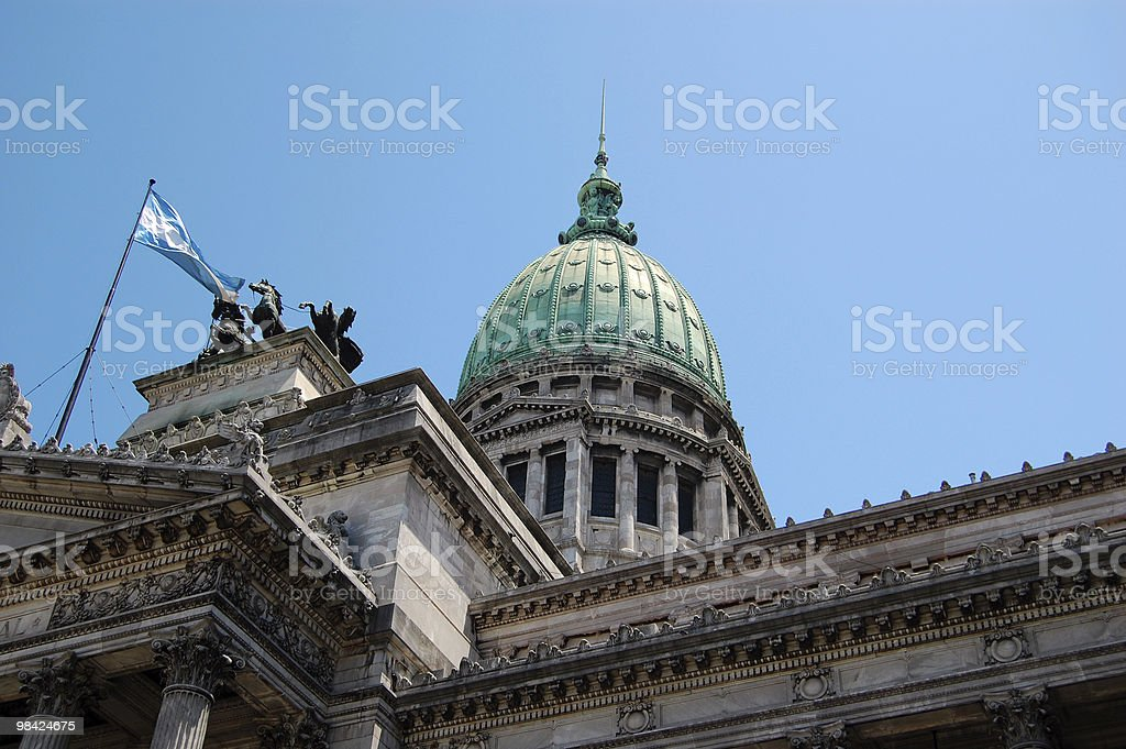 Argentinian Capitol royalty-free stock photo