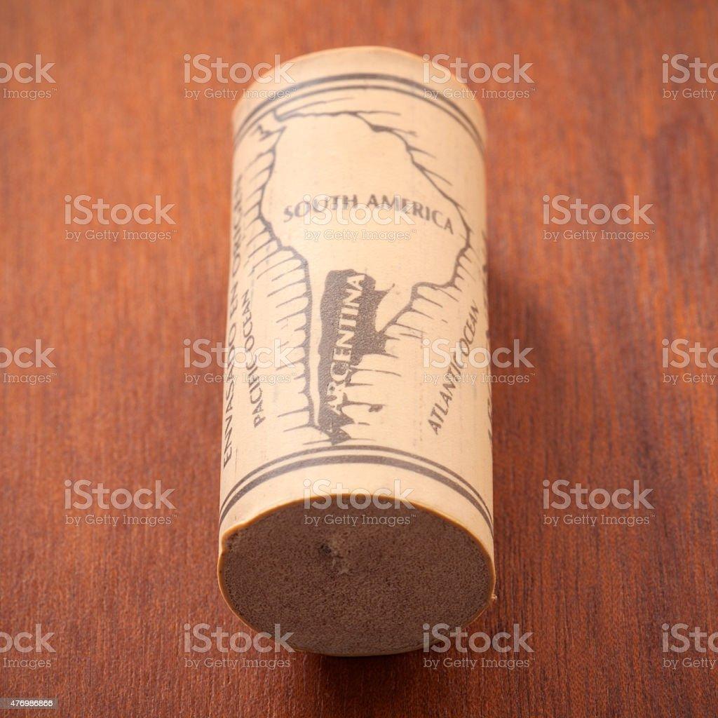 Argentinian cork stock photo