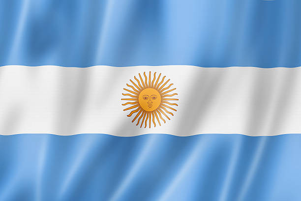 argentinian flag - argentina stock pictures, royalty-free photos & images