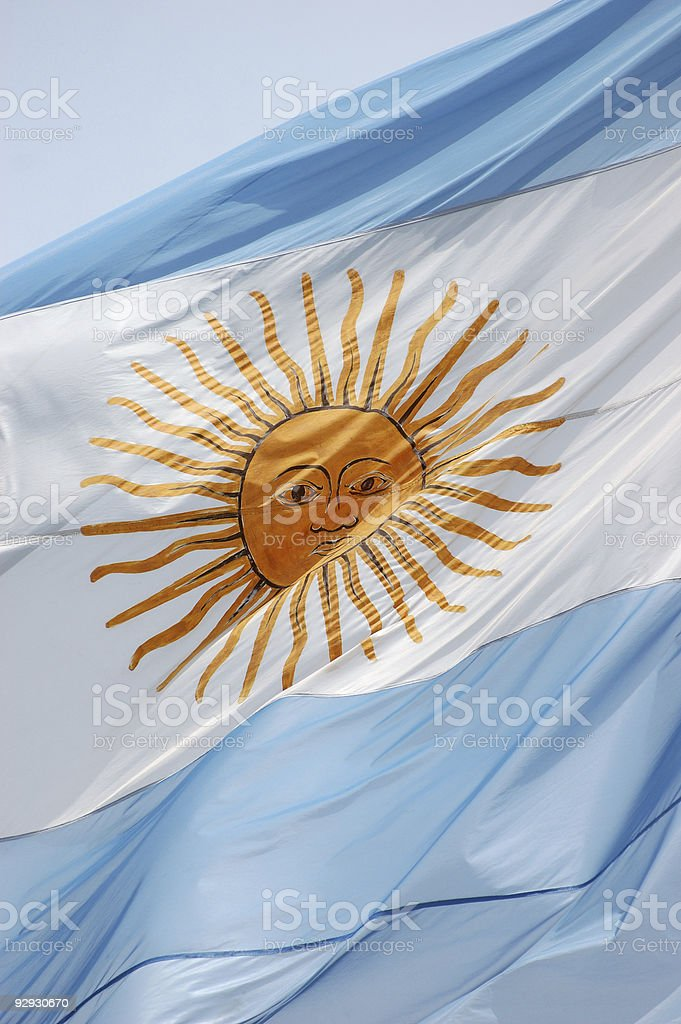 Argentinian flag royalty-free stock photo