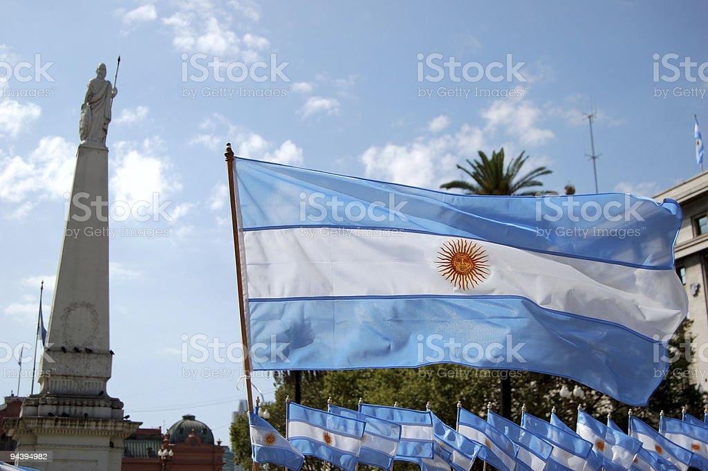 Argentinian flag stock photo
