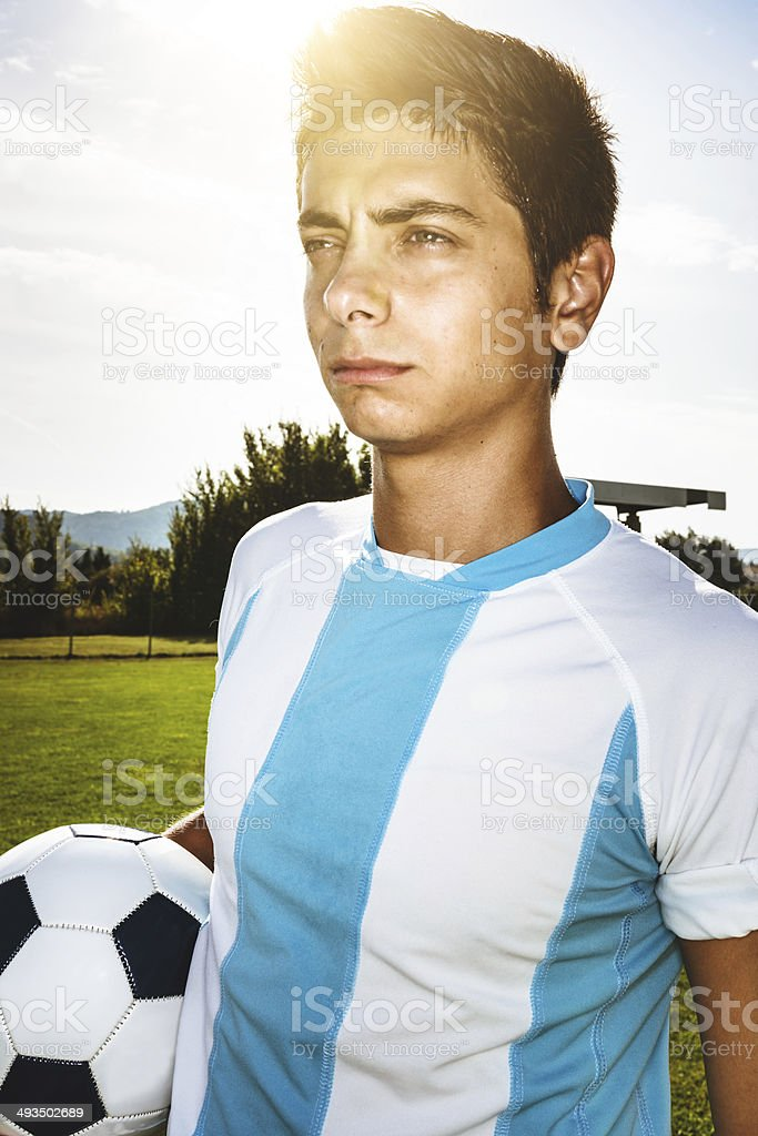 Argentinian soccer player portrait royalty-free stock photo