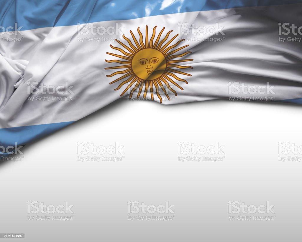 Argentinian waving flag stock photo