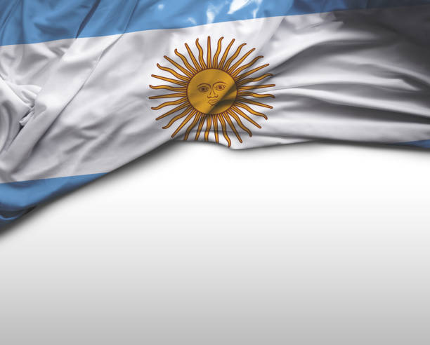 Argentinian waving flag stock photo