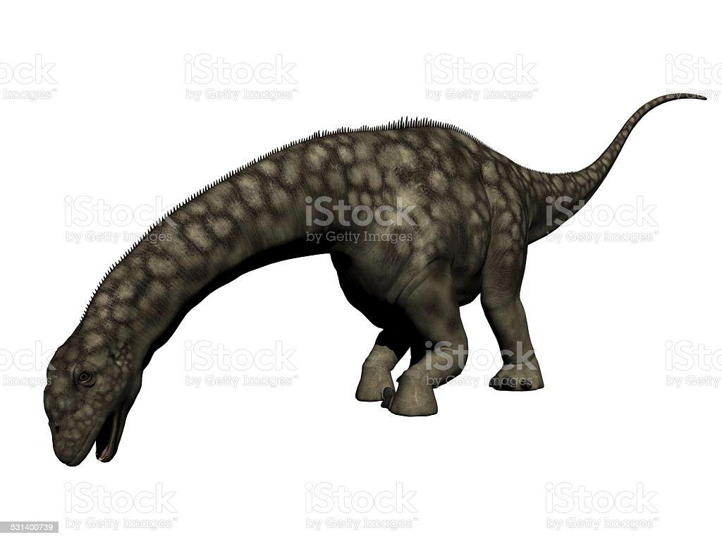 Dinosaurio argentinosaurus de renderizado 3d - foto de stock
