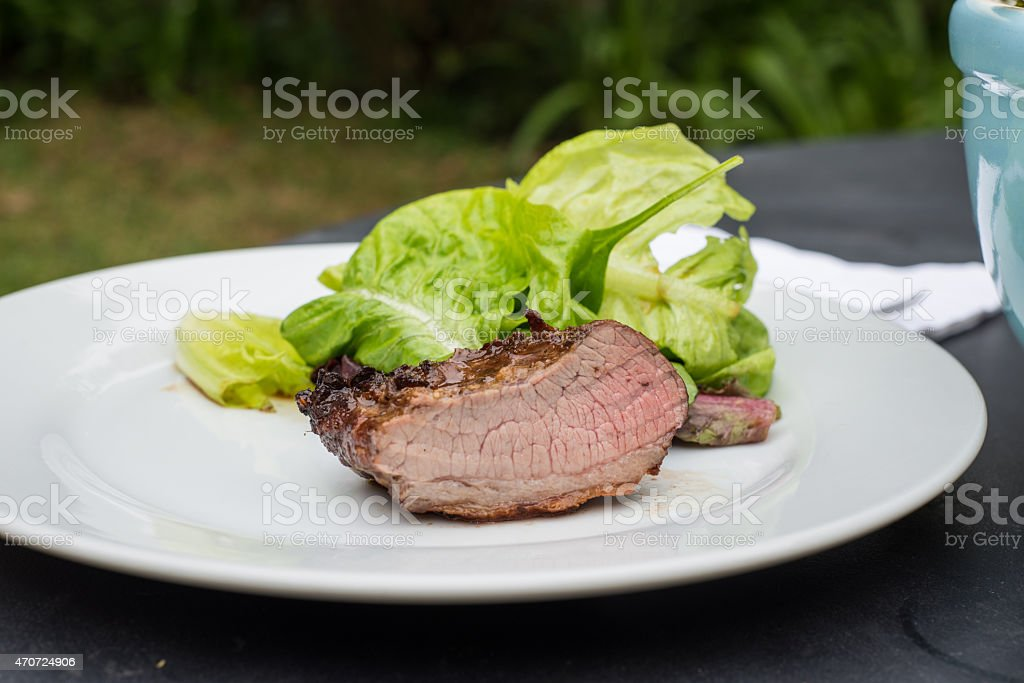 Barbacoa Argetine Asado, carne cocinados a la parrilla. América Latina - foto de stock