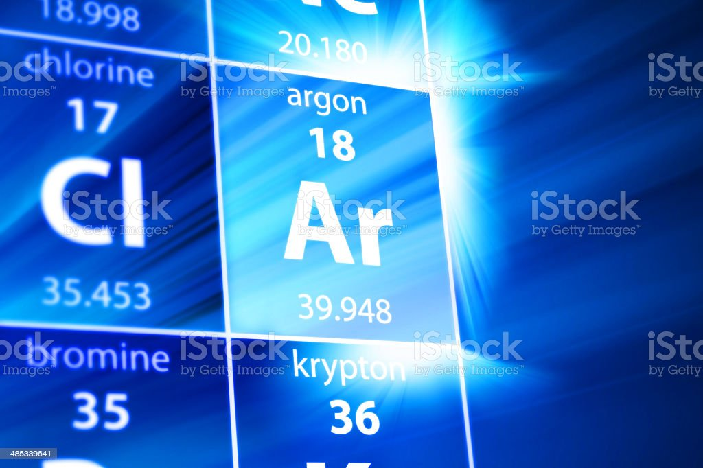 Argon Ar Periodic Table stock photo