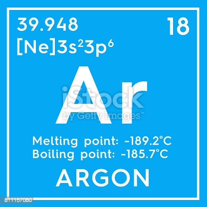 Argon Noble Gases Chemical Element Of Mendeleevs Periodic ...
