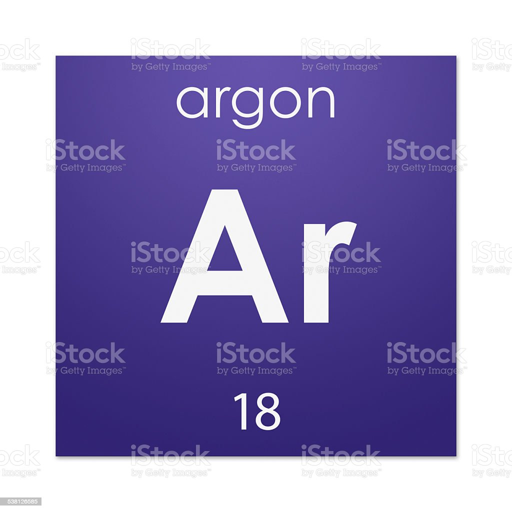 Argon (chemical element) stock photo