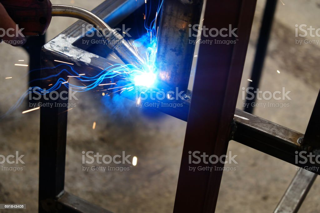 argon welding stock photo