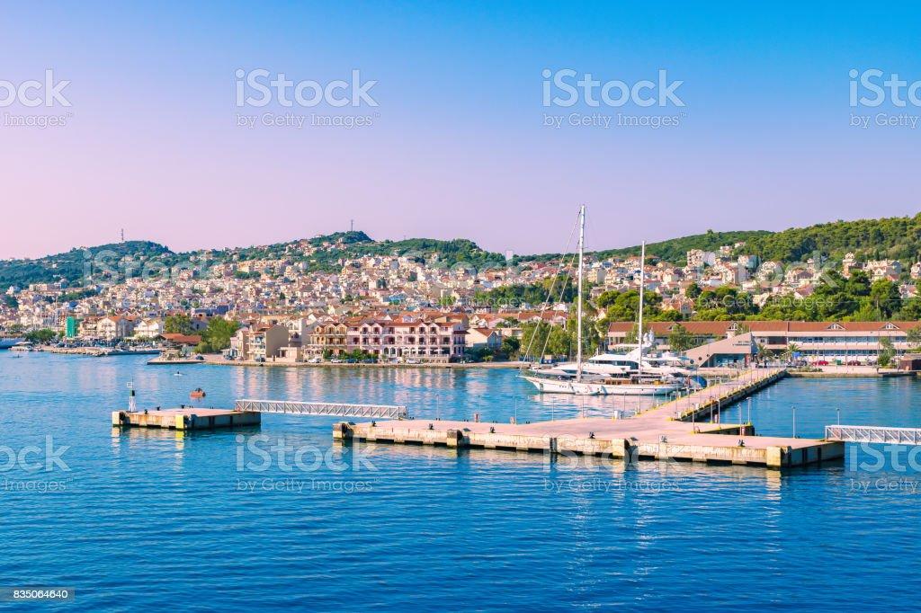 Argostoli Kefalonia Greece Cruise Port Stock Photo