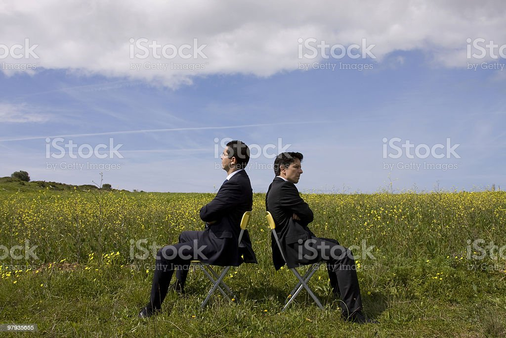 argue between two businessman stock photo