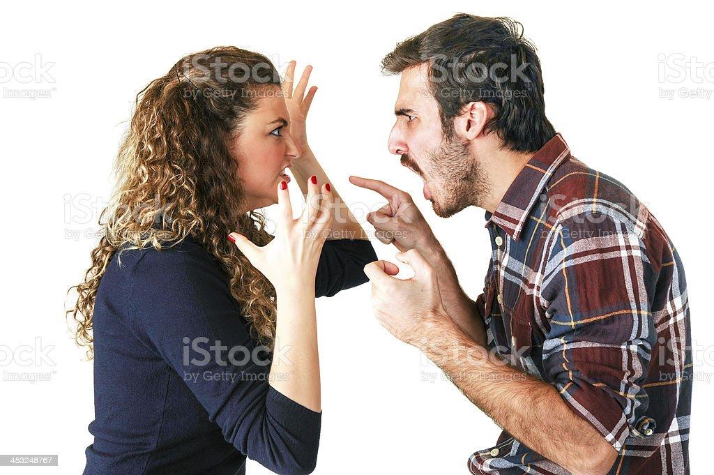 Arguing Couple stock photo