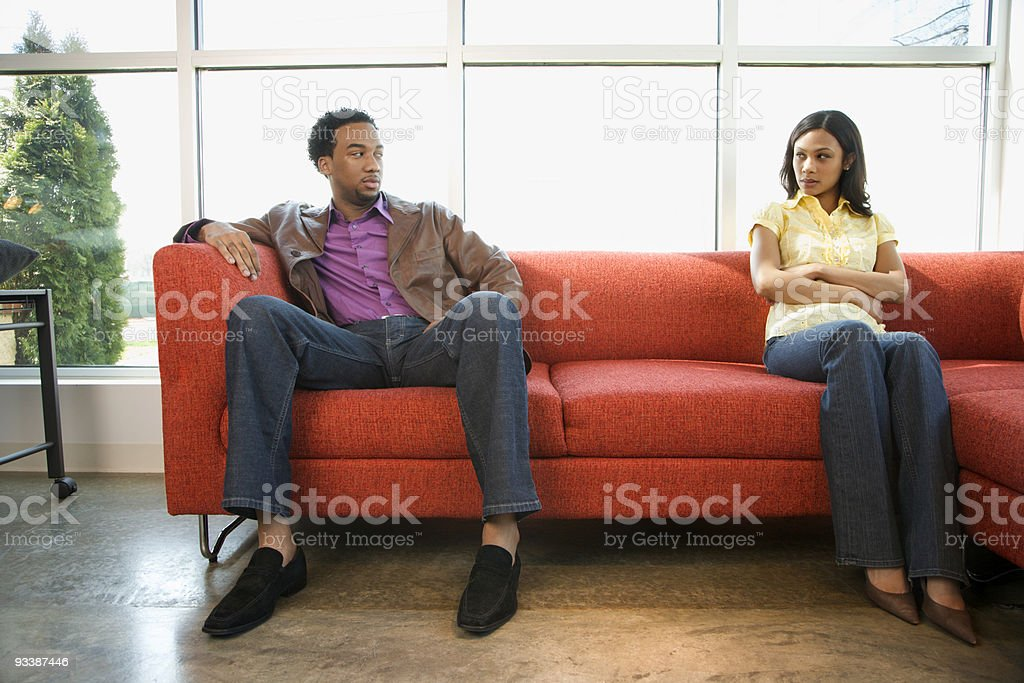 Arguing couple. stock photo
