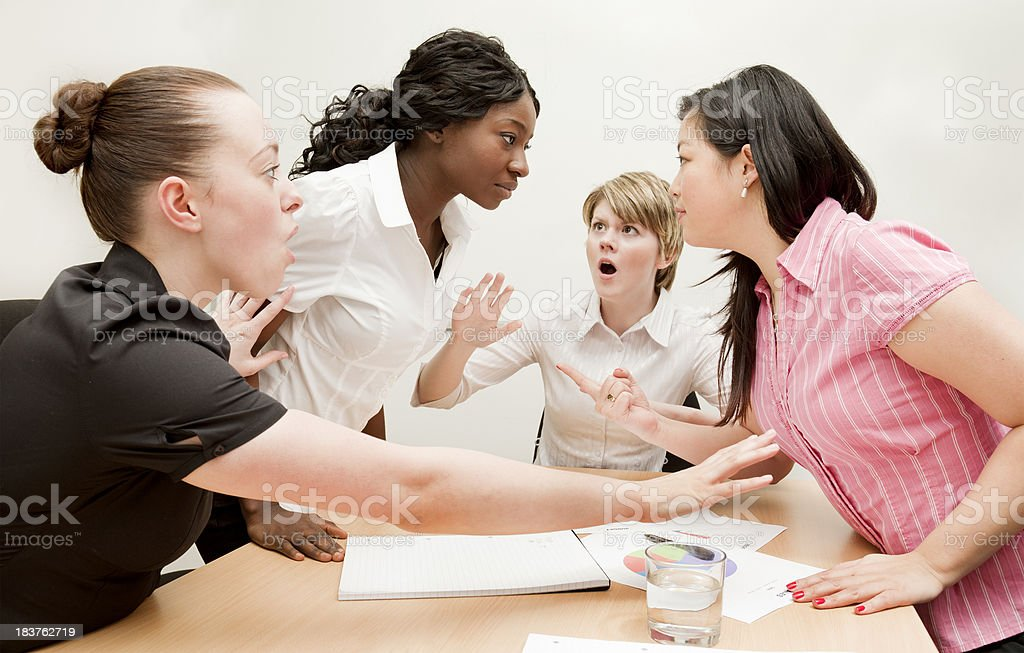 Argument in a Meeting royalty-free stock photo