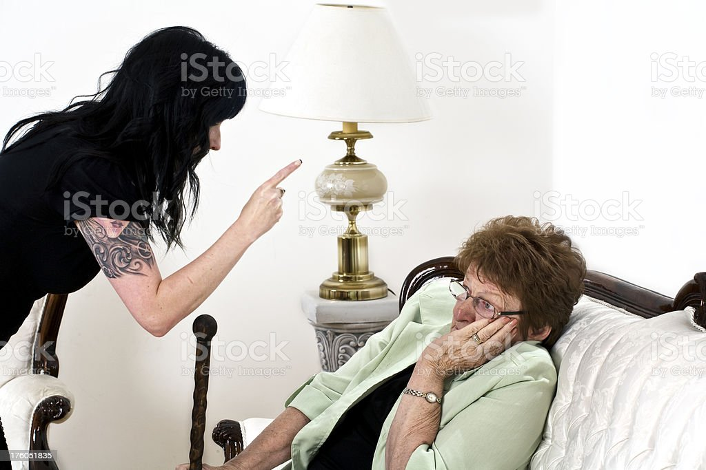 Argument of abuse stock photo