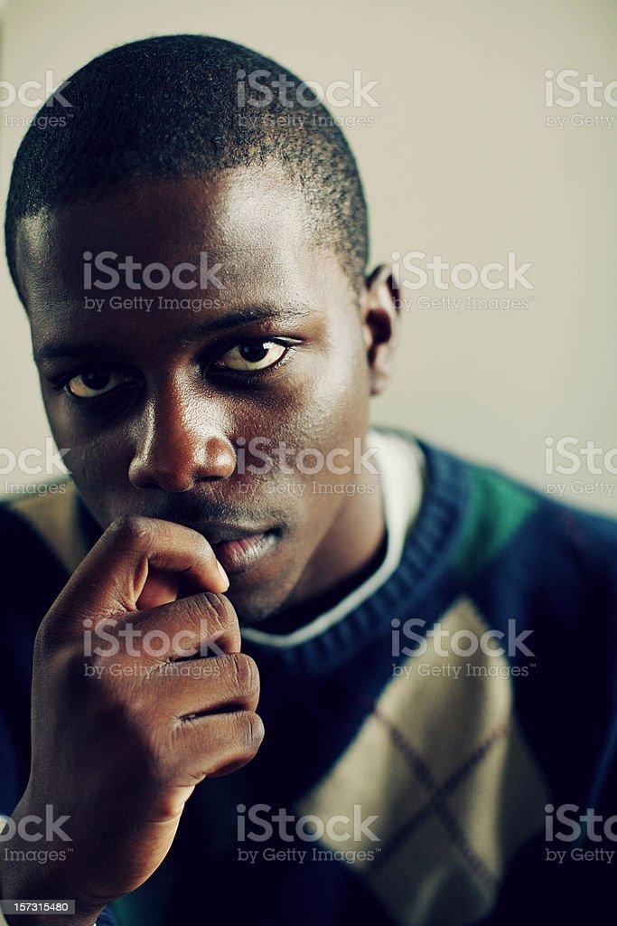 Argyle African Boy royalty-free stock photo