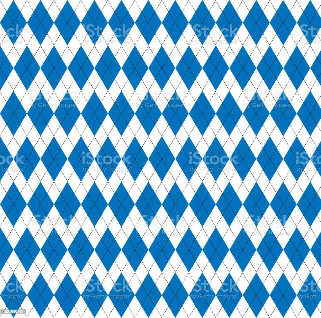 argyle pattern. Diamond shapes background stock photo