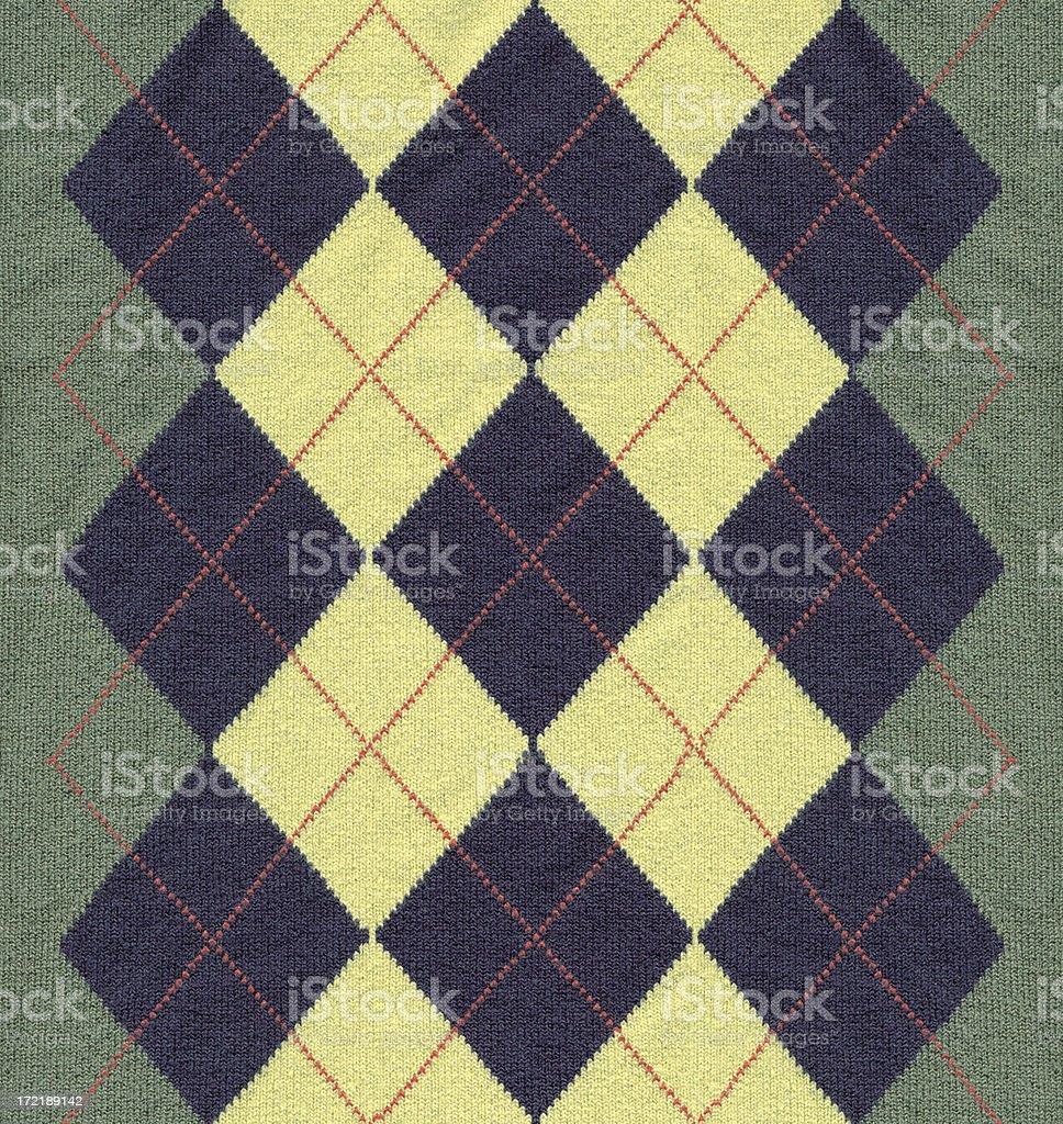 Argyle pattern fabric stock photo