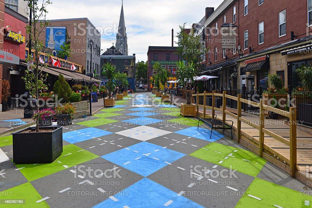 Argyle Street in Halifax stock photo
