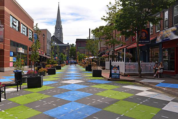 argyle street in halifax - nova scotia halifax stock-fotos und bilder