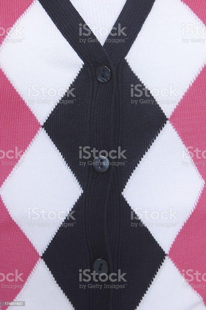 Argyle Sweater Fashion Cardigan Clothing royalty-free stock photo