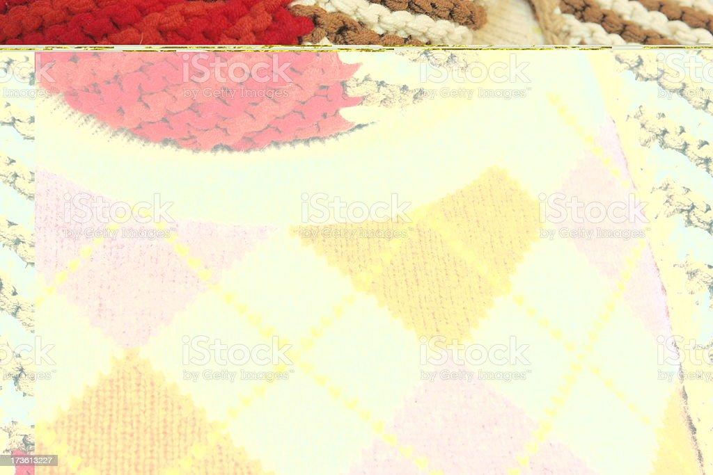 Argyle Sweater Scarf Feminine Clothing Fashion royalty-free stock photo