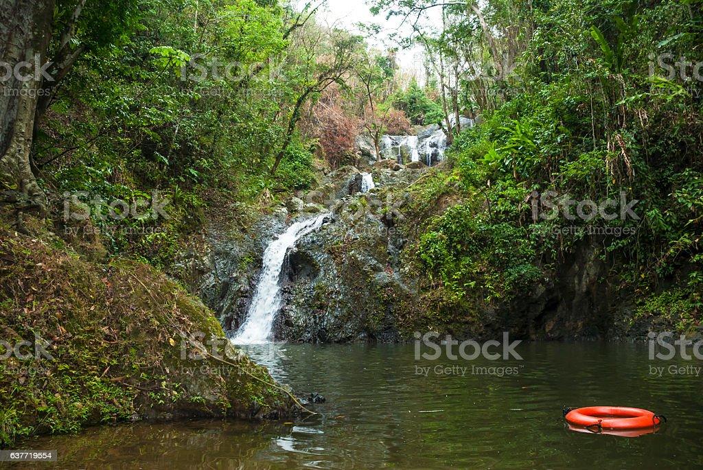 Argyle waterfall in Tobago stock photo
