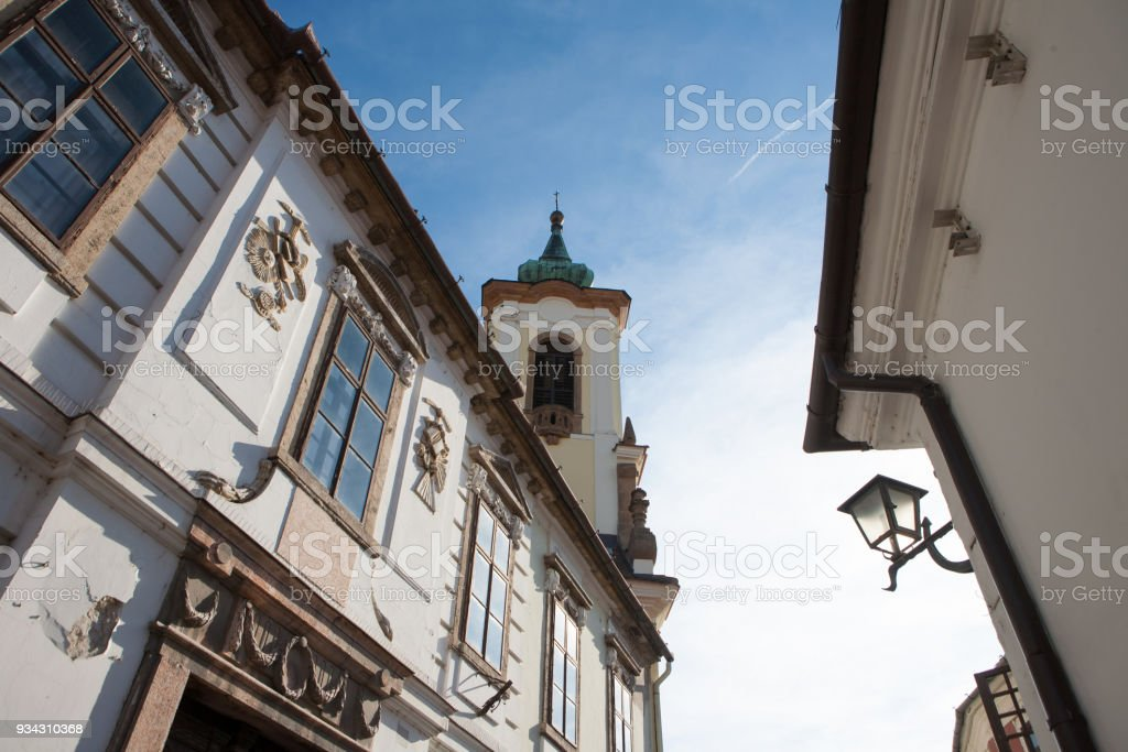 Arhitectural details from Szentendre city in Hungary stock photo