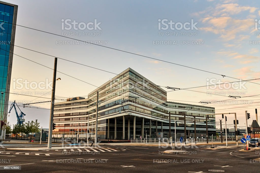 Arhus Port office buildings at street Kystvejen - Royalty-free Architecture Stock Photo