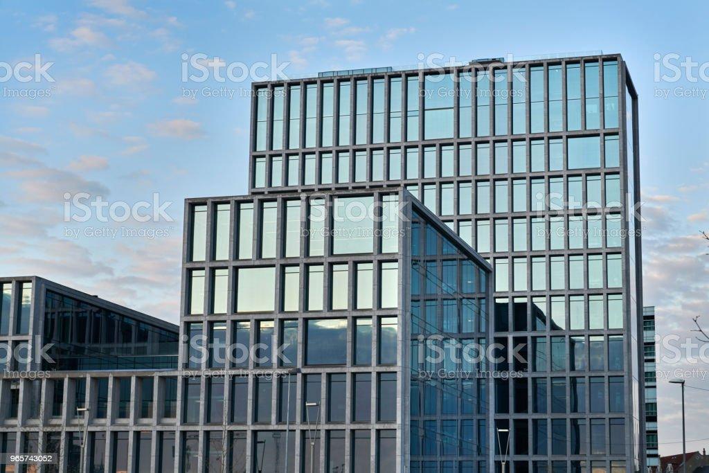 Arhus Port office buildings at street Sverigesgade - Стоковые фото Архитектура роялти-фри