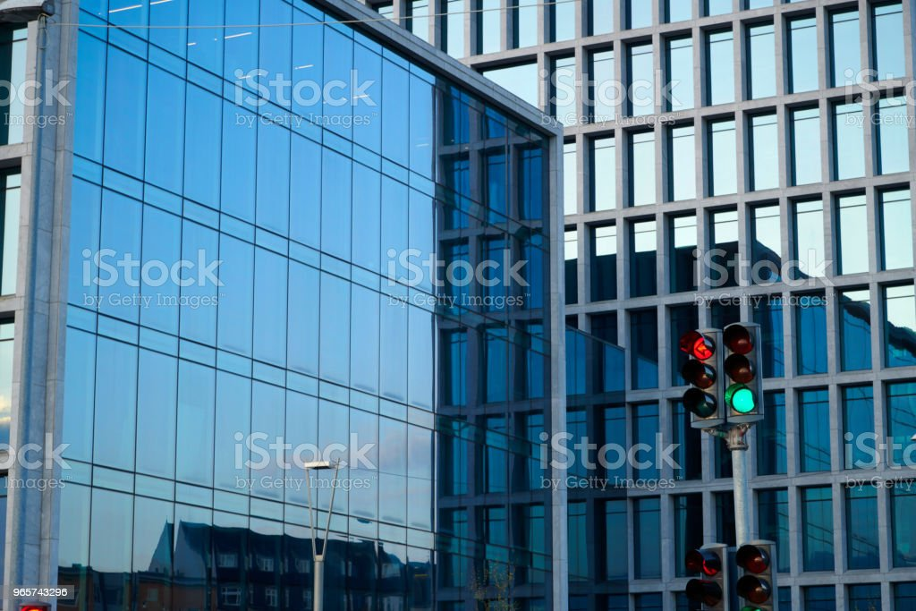 Arhus Port office buildings at street Sverigesgade stock photo