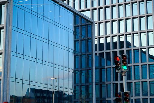Arhus Poort Kantoorgebouwen Op Straat Sverigesgade Stockfoto en meer beelden van Architectuur
