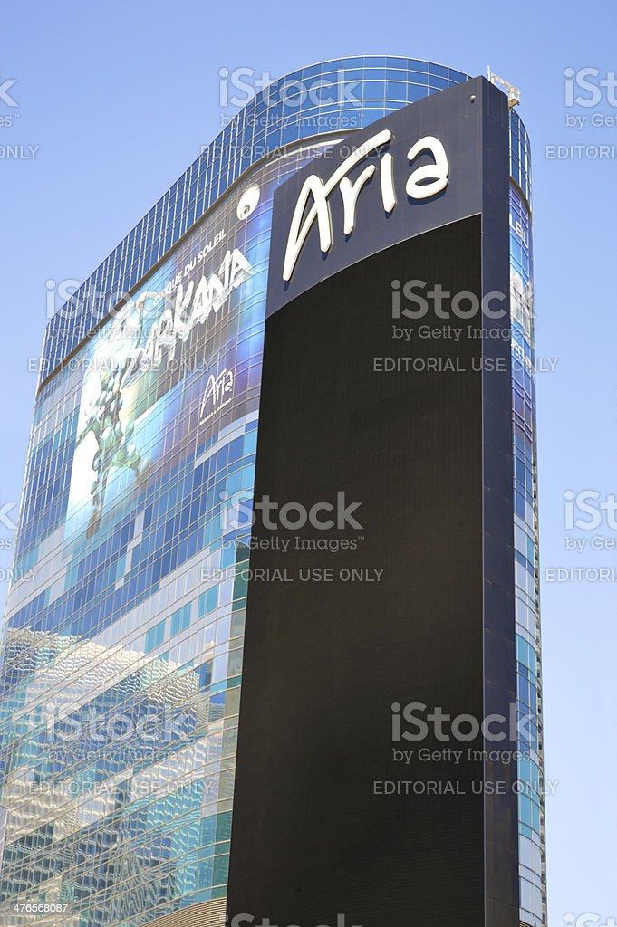 Aria Resort And Casino In Las Vegas royalty-free stock photo