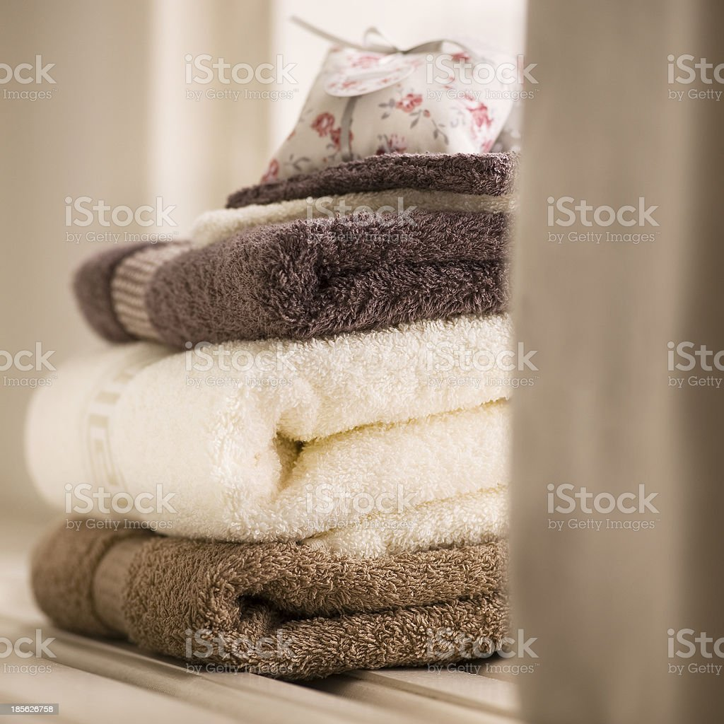 Ariadne towels royalty-free stock photo