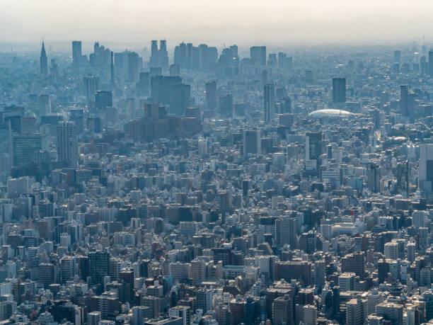 東京の arial の街並み。東京は日本の首都です。 - 東京 ストックフォトと画像
