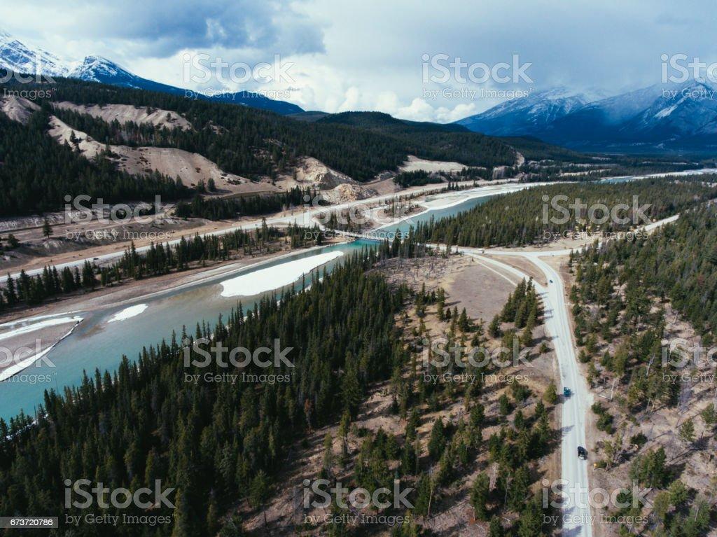Arial photographie, Parc National Jasper photo libre de droits