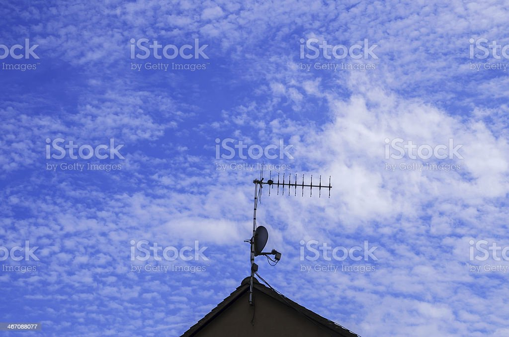 TV arial royalty-free stock photo